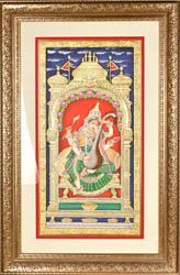 Goddess Saraswati Also Named Sharada, Playing on Vina