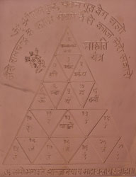 Maruti Yantra - Representing the Powerful God Hanuman