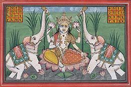 Lakshmi in Ardhapurusha Rupa (The Vaishnava Ardhanarishvara Form)