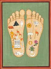 The Lotus Footprints of Srimati Radharani