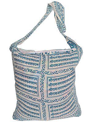 Shoulder Jhola Bag with Sri Ram Nama Mantra