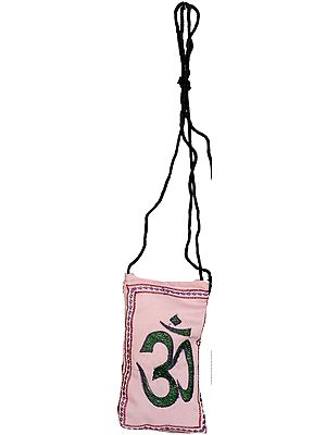 Embroidered Om Mobile Bag