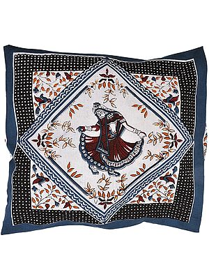 Cushion Cover from Pilkhuwa with Printed Dancing Lady
