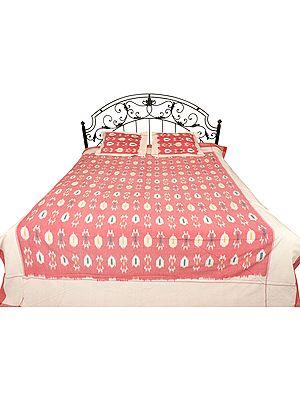 Ikat Bedspread from Pochampally