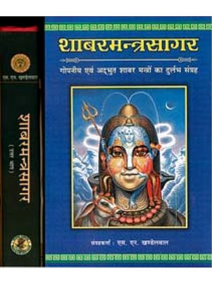 शाबरमन्त्रसागर - गोपनीय एवं अदभुत शाबर मंत्रो का दुर्लभ संग्रह: Shabar Mantra Sagar  - Rare Collection of Secret and Wonderous Shabar Mantras (Set of 2 Volumes)