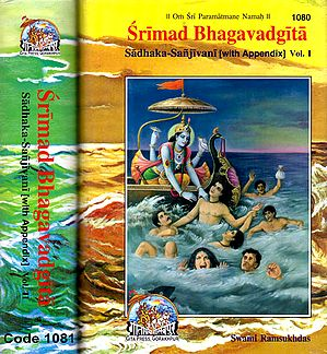 Srimad Bhagavad Gita - 2 Volumes (Sadhaka-Sanjivani (With Sanskrit Text, Transliteration, English Translation and Commentary)