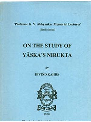 On The Study of Yaska's Nirukta