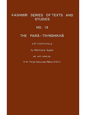 The Para Trimshikha With Commentary of Abhinava Gupta