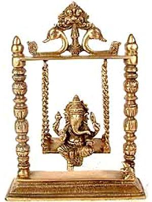 Ganesha on a Swing (Altar Piece)