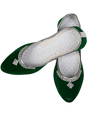 Plain Jootis with Beadwork