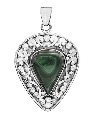 Gemstone Inverted Tear Drop Pendant