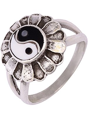 Sterling Yin Yang Ring