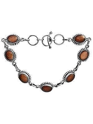 Sterling Bracelet with Gems