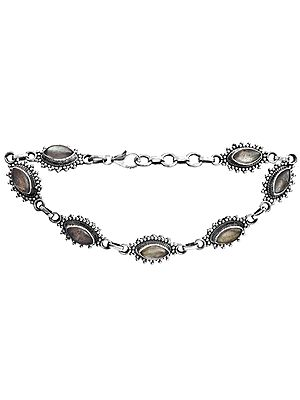 Sterling Bracelet with Gems
