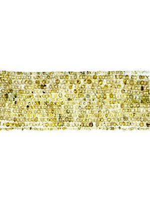 Golden Rutilated Israel Cut Rondells