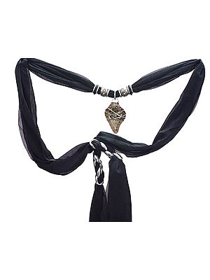 Scarf Necklace with Pendent