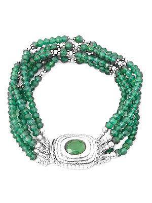 Faceted Five-Strands Rondells Bracelet