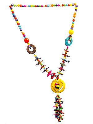 Multicolor Beaded Donut Necklace