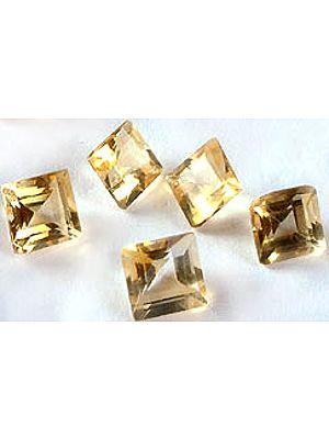 Citrine 5 x 5 mm Squares (Price Per 10 Pieces)