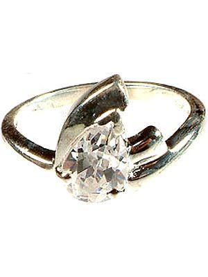 Cubic Zirconia Marquis Ring