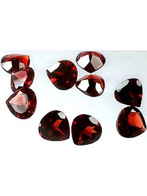 Garnet mm Heart Shape (Price Per Pair)