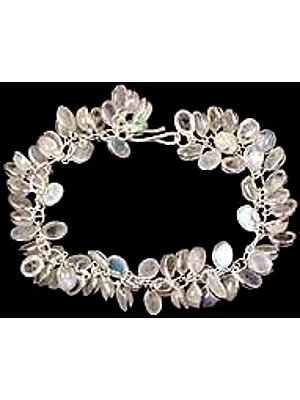 Rainbow Moonstone Bunch Bracelet