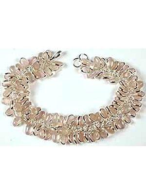 Rose Quartz Bunch Bracelet