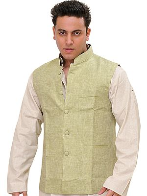Plain Pure Linen Modi Jacket