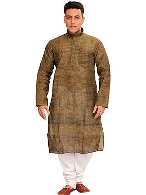 Khadi Kurta Pajama Set with Thread Weave