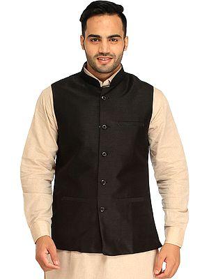 Plain Wedding Waistcoat with Front Pockets