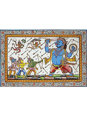 Shri Rama Killing the Demon Kumbhakarana