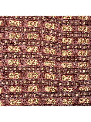 Sanatan Dharma Fabric with Printed Om