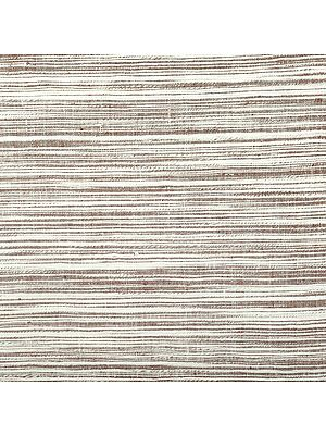 Hand Woven Coarse Khadi Fabric with Thread Weave