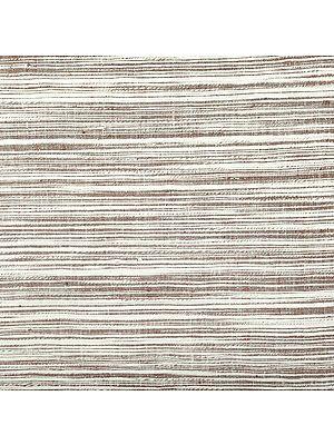 Hand Woven Coarse Khadi Fabric with Thread Weave