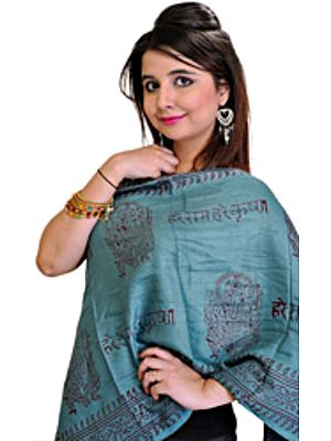 Lord Ganesha Prayer Scarf with Mahamantra