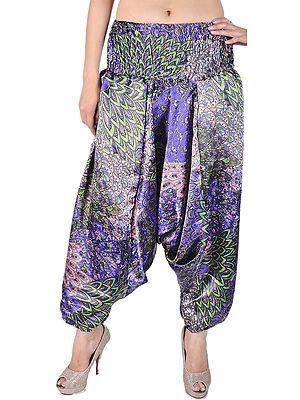 Printed Satin Harem Trousers