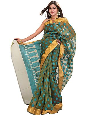 Banarasi Sari with Woven Bootis All-Over