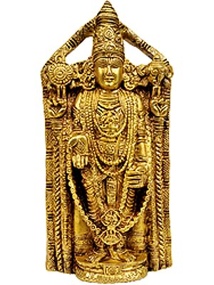 Lord Venkateshvara as Balaji at Tirupati (Flat Wall Hanging Statue)