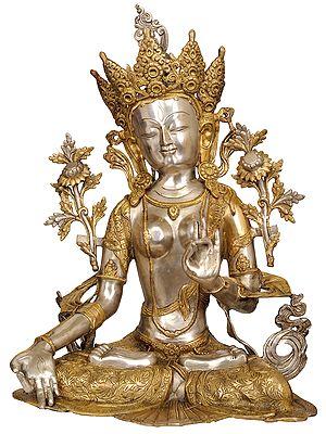 Large Size White Tara (Tibetan Buddhist Deity)