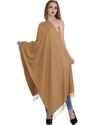 Plain Cashmere Silk Stole from Nepal