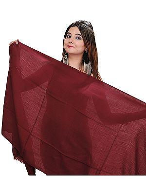 Plain Pure Pashmina Stole from Nepal