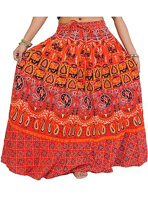 Long Skirt From Pilkhuwa with Printed Camels