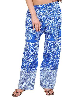 Casual Trousers from Pilkhuwa with Printed Palm Trees
