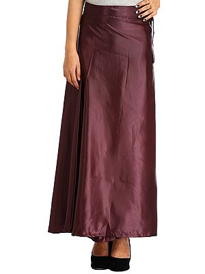 Plain Wrap-Around Maxi Satin Skirt