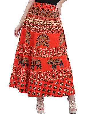Indian Skirts: Wrap Around, Printed & Sari Skirts | Indian Apparels