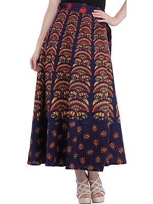 Wrap-Around Printed Long Skirt from Pilkhuwa