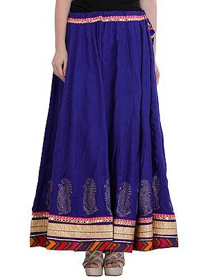 Ghagra Skirt from Jodhpur with Gota Border and Mirrors