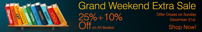 Mega Book Sale... 25% + 10% off on all Books