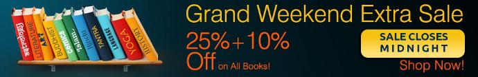 Mega Book Sale... 25% + 10% off on all Books